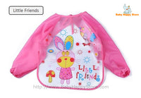 28 - Long Sleeve Waterproof Baby Bibs 0-2 Years - Little Friends