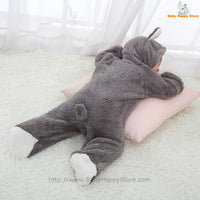 29 - Newborn Baby Bear Romper - Gray 11