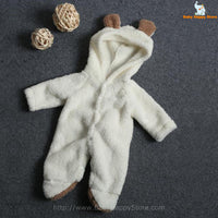 39 - Newborn Baby Bear Rompe - White 01