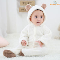 41 - Newborn Baby Bear Rompe - White 03