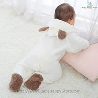 45 - Newborn Baby Bear Rompe - White 08