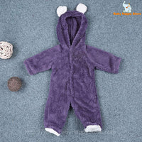 47 - Newborn Baby Bear Rompe - Purple 01