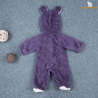 48 - Newborn Baby Bear Rompe - Purple 02