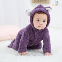 49 - Newborn Baby Bear Rompe - Purple 03