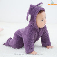 50 - Newborn Baby Bear Rompe - Purple 04