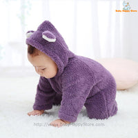 51 - Newborn Baby Bear Rompe - Purple 05