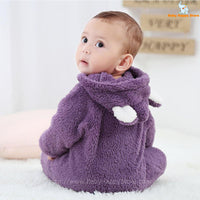 52 - Newborn Baby Bear Rompe - Purple 06