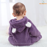 53 - Newborn Baby Bear Rompe - Purple 07