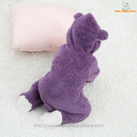 54 - Newborn Baby Bear Rompe - Purple 08