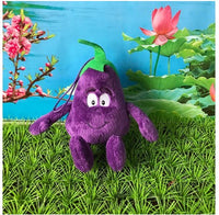 25 - Fruit & Vegetable Plush Dolls - Eggplant 02