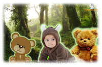 00 - Newborn Baby Bear Romper Graphics