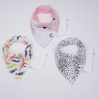 Baby Bibs With Pacifier Hangers (Old)