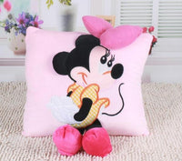 Mickey & Minnie Mouse 3D Plush Pillow