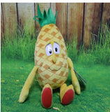 35 - Fruit & Vegetable Plush Dolls - Pineapple