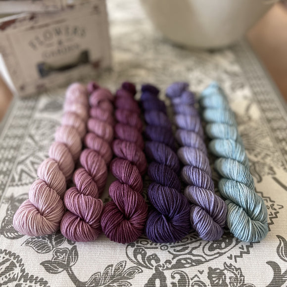 Simply Sock 6-Pack Mini Skeins in Amethyst