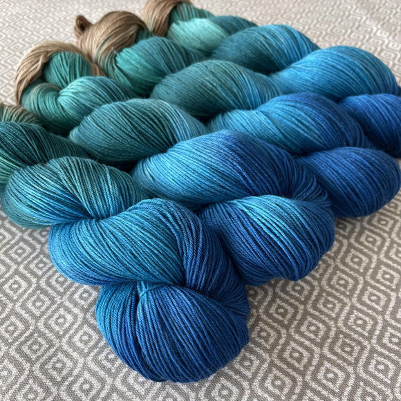 Simply Sock Yarn - Aquamarine Chroma