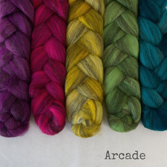 Heathered BFL Roving - Arcade - Bundle