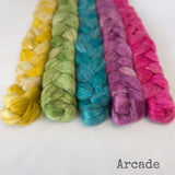 Camel Silk Roving - Arcade - Bundle