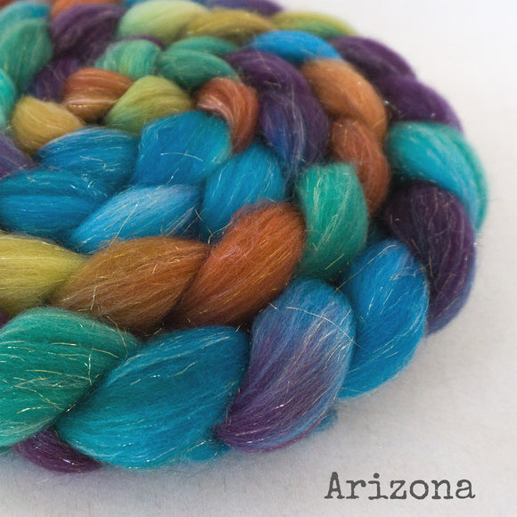 Glitter Roving - Arizona - Gold