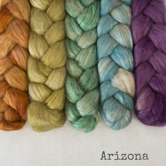 Camel Silk Roving - Arizona - Bundle