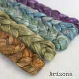 Yak Silk Roving - Arizona - Bundle