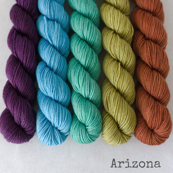 Simply Sock 5-Pack Mini Skeins in Arizona Semi Solid