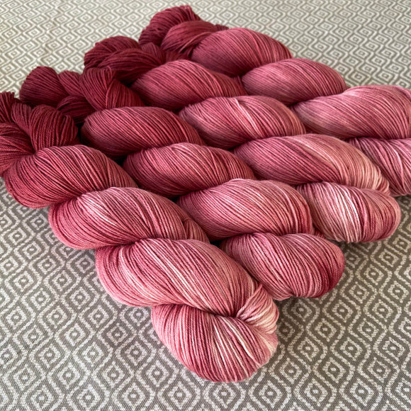 Simply Sock Yarn - Big Red Chroma - OOAK