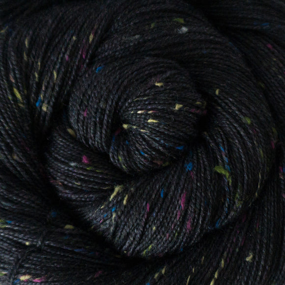 Confetti Yarn - Black Semi Solid