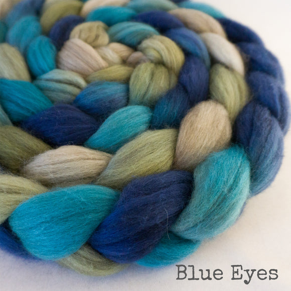 Merino Yak Silk Roving - Blue Eyes
