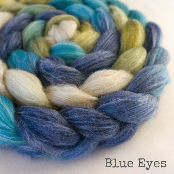 Merino Bamboo Silk Roving - Blue Eyes