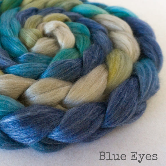 Merino Tencel Roving - Blue Eyes