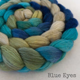 Merino Camel Silk Roving - Blue Eyes