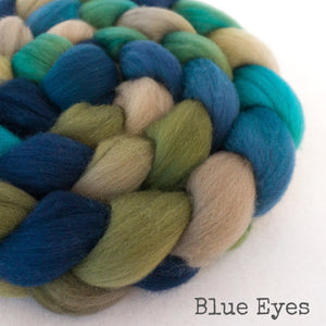 Falkland Wool Roving - Blue Eyes