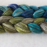 Yak Silk Roving - Blue Eyes