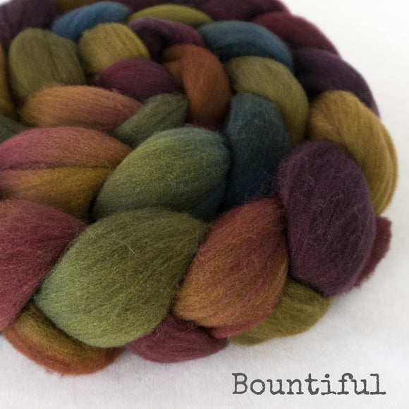 Targhee Wool Roving - Bountiful