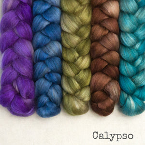 Camel Silk Roving - Calypso - Bundle