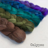 Heathered BFL Roving - Calypso - Bundle