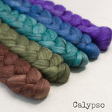 Merino Yak Silk Roving - Calypso - Bundle