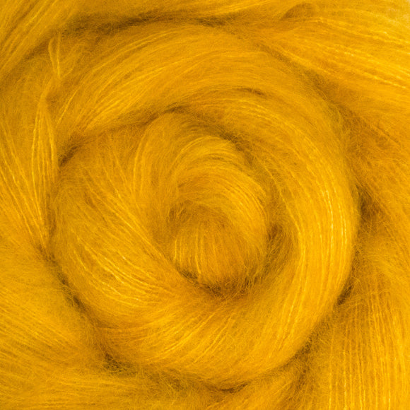 Fine Fluff Yarn - Canary Semi Solid