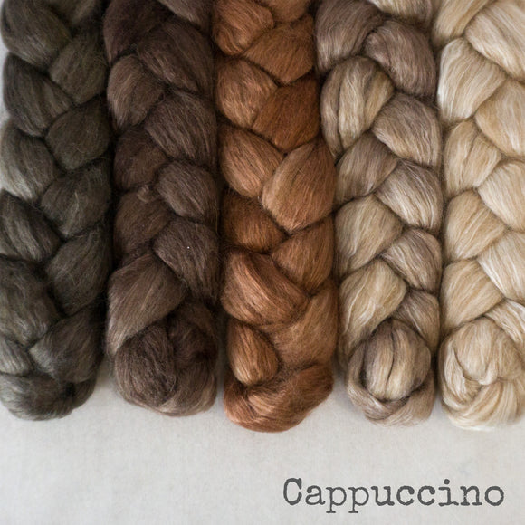 Camel Silk Roving - Cappuccino - Bundle