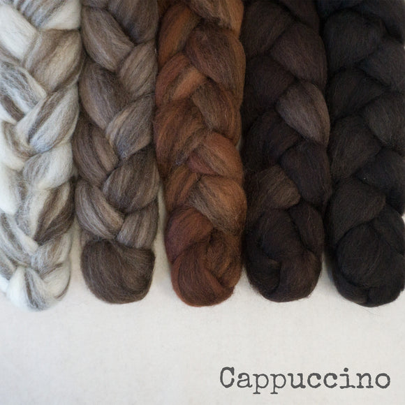 Heathered BFL Roving - Cappuccino - Bundle