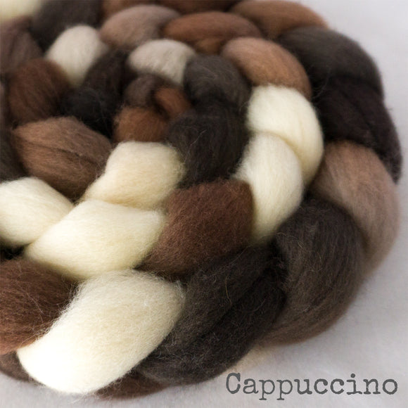 BFL Wool Roving - Cappuccino