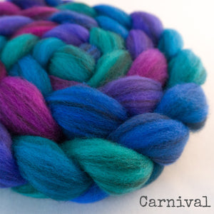 Heathered BFL Roving - Carnival