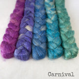 Camel Silk Roving - Carnival - Bundle