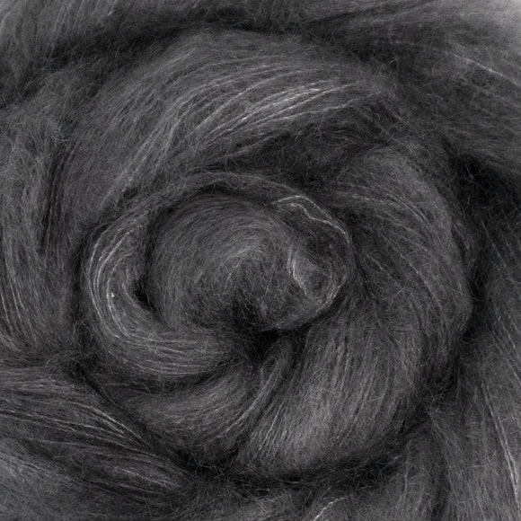 Fine Fluff Yarn - Charcoal Semi Solid