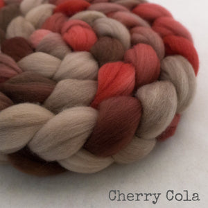Merino Superfine Roving - Cherry Cola