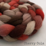 Falkland Wool Roving - Cherry Cola