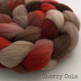 Targhee Wool Roving - Cherry Cola