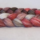 Merino Bamboo Silk Roving - Cherry Cola