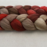 Merino Silk Cashmere Roving - Cherry Cola